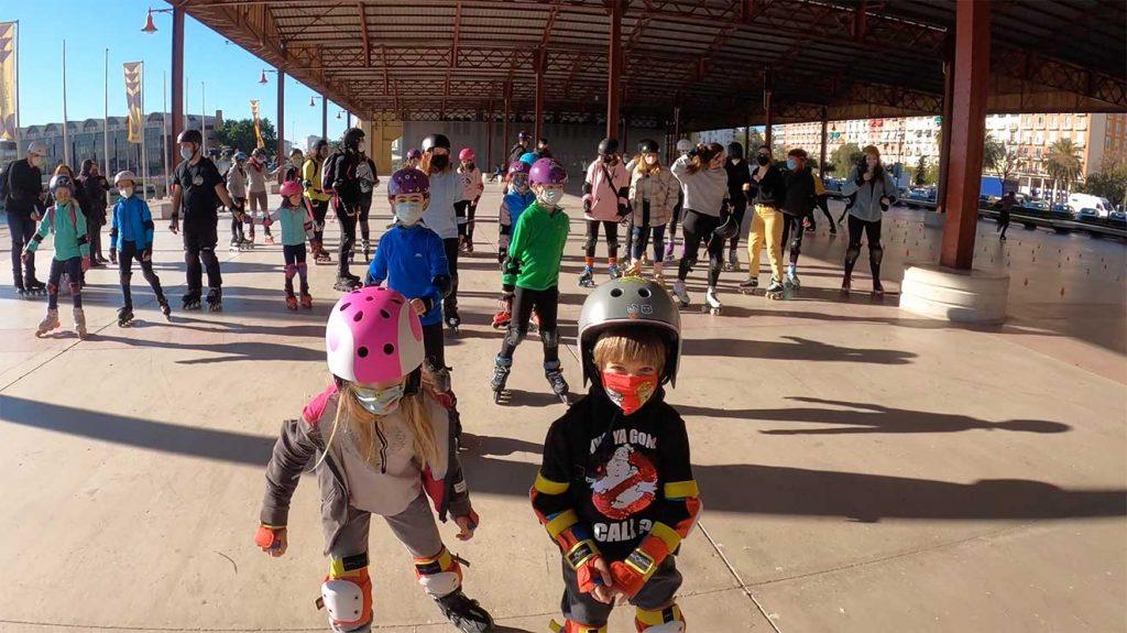 Clases-de-Patinaje-en-Linea-Club-Valencia-Royals-Ruta-Niños-3-Enero-3